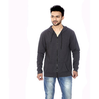 Gumality Mens Black Hooded Sweater