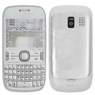 100 OG Full Housing Body Panel Fit For Nokia Asha 302 White