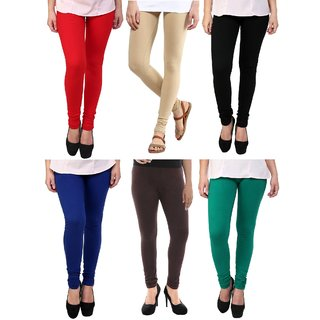 Stylobby Multi Color Legging Pack Of 6 RBeBBlBrG6
