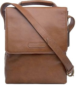 Hidesign Orion 01 Tan Leather Messenger Bag