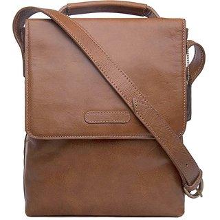 Hidesign Orion 01 Tan Leather Messenger Bag