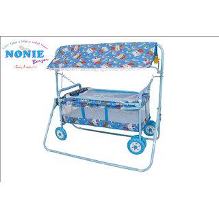 Baby Craddle / Baggi Jhula 6 wheel Hood/BJ-E