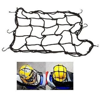 High Quality Bike Motorcycle / Cycle / Scooter Cargo Bungee Net - Black Big.