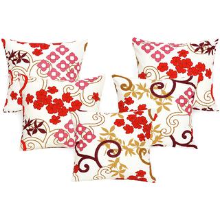 DIVINE CASA 100 Cotton Set Of 5 Cushion CoversCUSHION113