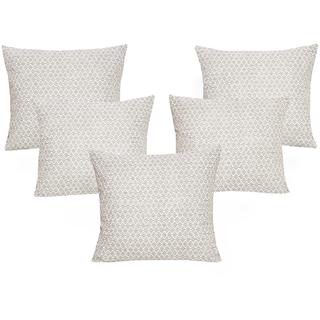 DIVINE CASA 100 Cotton Set Of 5 Cushion CoversCUSHION117
