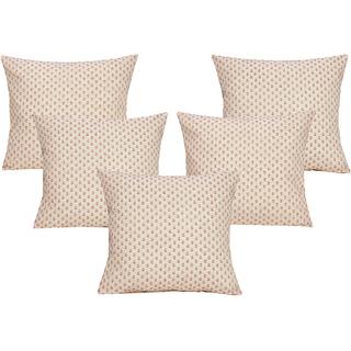 DIVINE CASA 100 Cotton Set Of 5 Cushion CoversCUSHION118