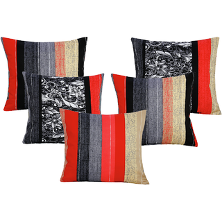 DIVINE CASA 100 Cotton Set Of 5 Cushion CoversCUSHION120