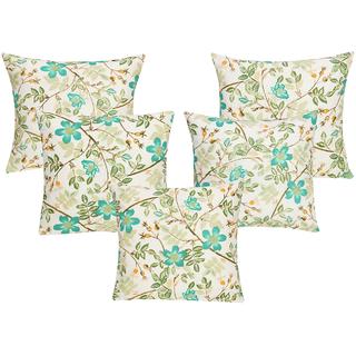 DIVINE CASA 100 Cotton Set Of 5 Cushion CoversCUSHION129