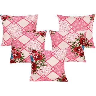 DIVINE CASA 100 Cotton Set Of 5 Cushion CoversCUSHION130