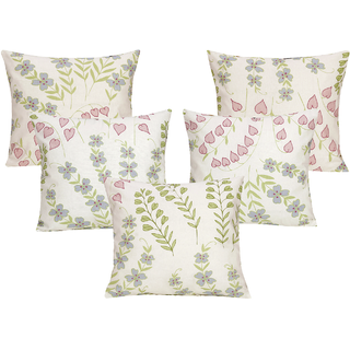 DIVINE CASA 100 Cotton Set Of 5 Cushion CoversCUSHION131