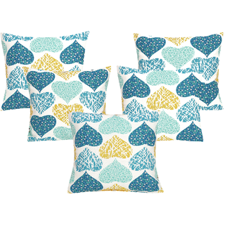 DIVINE CASA 100 Cotton Set Of 5 Cushion CoversCUSHION136