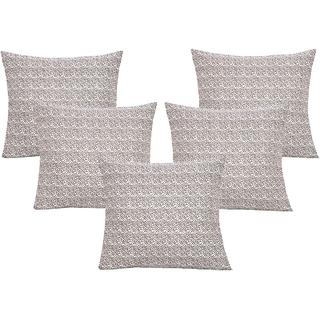 DIVINE CASA 100 Cotton Set Of 5 Cushion CoversCUSHION146