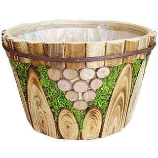Handmade Wooden Flower Pot