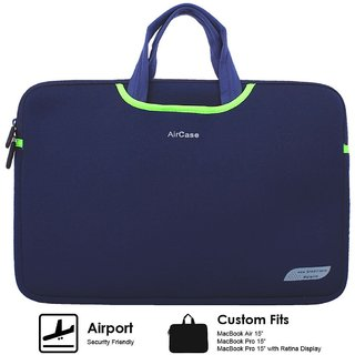 AirCase Designer Neoprene Protective Handle Sleeve for 15/15.6 inch LaptopsNAVY BLUE