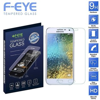 FEYE Samsung Galaxy E5  Tempered Glass Screen Protector,2.5D Curved Edge - 0.33mm Thickness- 9H Hardness, and Easy To Install In your Smart Phones and Android Phones (Samsung Galaxy E5)