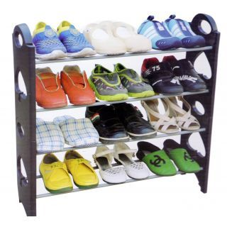 Shoe Rack Plastic (Black)