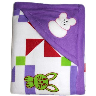 New Born Baby Blanket / Baby wrapper / Baby quilt - Violet colour
