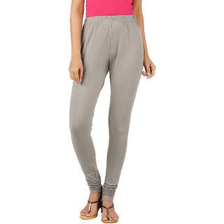 95fe51d3ee5f99 Buy Newrie Womens Cotton Elastane Natural Grey Churidar Leggings Online -  Get 11% Off