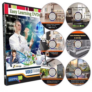 Learn 3ds Max for Interiors Designing 9 Courses on 6 DVDs Bundle Pack