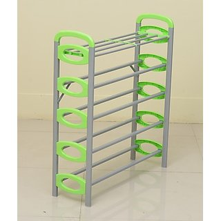 92a658c7bca Nilkamal Redley 5Layer Iron Shoe Rack (Green) Best Deals With Price ...