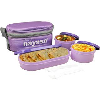 Nayasa Duplex lunch box purple