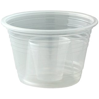 50 Disposable Clear Plastic