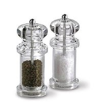 Transparent Pepper Grinder or Salt Shaker With Metal Blade For Kitchen Use