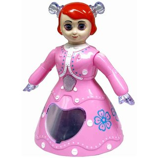 3D Light 360D Rotate Princess Dancing Toy With Battery