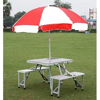 Aluminium Folding Portable Picnic Table With Chair