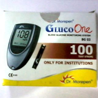 100 Glucometer test strips for BG-03 Dr.Morepen Gluco One