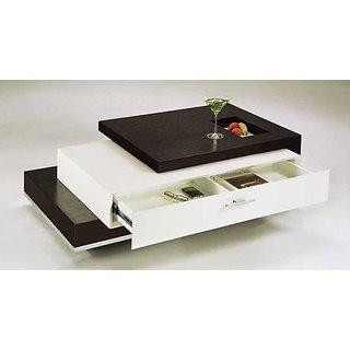 Furnish living brown white draj table buy furnish living for Center table set design
