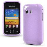 Purple Glittery Soft Silicone Gel Skin Case Samsung Galaxy Y S5360