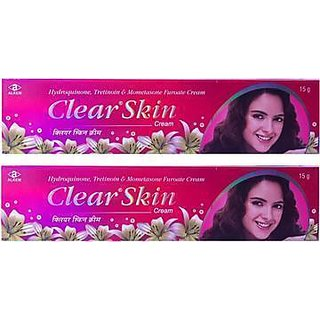 Clear skin cream set of 2 pcs.
