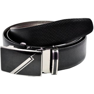 Aer Leather  Black And Brown Genuine Leather Belt