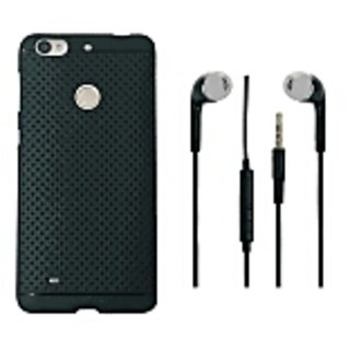 Premium Quality Dotted SIlicone For LeEco le Tv S BAck Cover With Headphone Black By 14 CASE