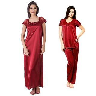 Rk Indian Bridal Combo 1pc Nighty Setnight Wearngownnightwear Over The Coat