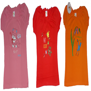 BULLET BRAND KIDS GIRLS TOPS FOR ALL AGES ,SIZE IN VARIANT COLORS (PACK OF 3)