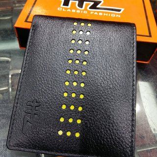 HZ Classic Fashion Soft Leather Black Wallet