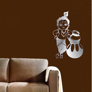 Decor Kafe Bal Krishna Wall Sticker    12x18(inch)
