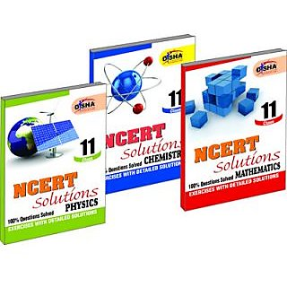 NCERT Solutions Physics, Chemistry and Mathematics, Class - 11 (Set of 3 Books)