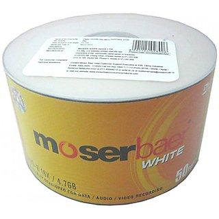 MoserBaer 16x DVD-R (White) 4.7GB Blank DVD 50 DVD Pack