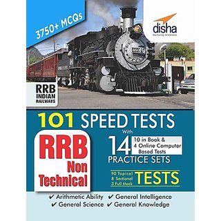 101 Speed Tests (Topic-wise) with 14 Practice Sets for RRB Non Technical Exam