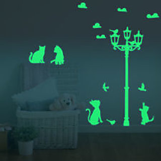 Decor Kafe Cats Wall Sticker    22x50(inch)