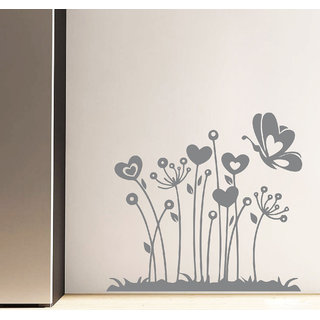 Decor Kafe Lovely Flowers Wall Sticker    20x18(inch)