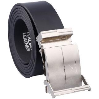 Fashno Adjustable Italian Leather Black Belt