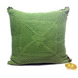 Crochet Patterned Cushion Cover Green Cushion Cover