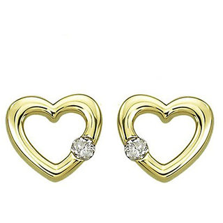 Diamond Earring In Yellow Gold - SAN14