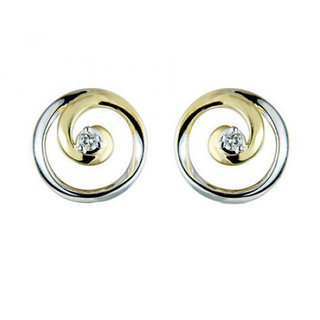 Diamond Earring In Yellow Gold San18