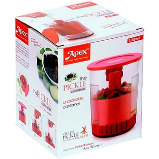 Apex - 1000 ml Plastic Pickle Container+Lid(Red)