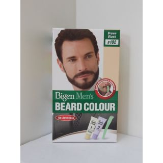 Bigen Mens Beard Color, Brownish Black B102